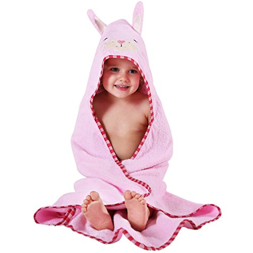 MICHLEY Animal Face Hooded Baby Towel Cotton Bathrobe for Boys Girls 0-6 Year Blue